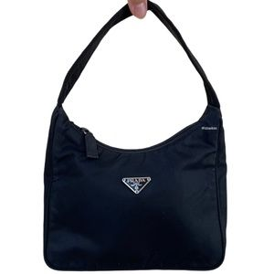 Authentic Prada Nylon Tessuto Mini MV519 Hobo Bag